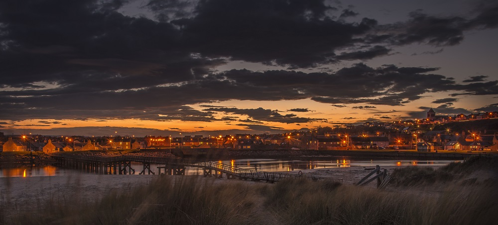 Lossing at Night by David Main, Lossiemouth